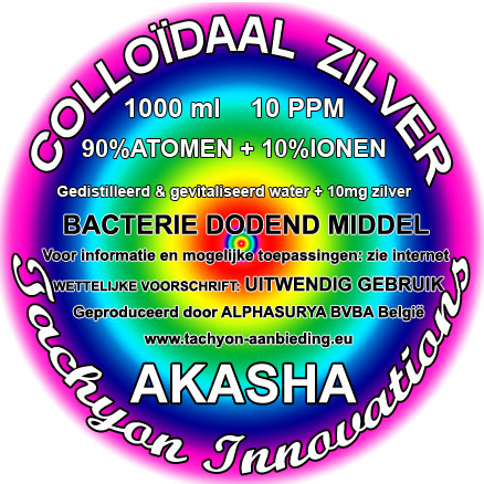 Colloïdaal zilver Atomisch 1000ml 10PPM (BE)