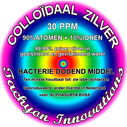 * Colloïdaal zilver 1000ml 30PPM 90% + gratis PET sproei flesjes
