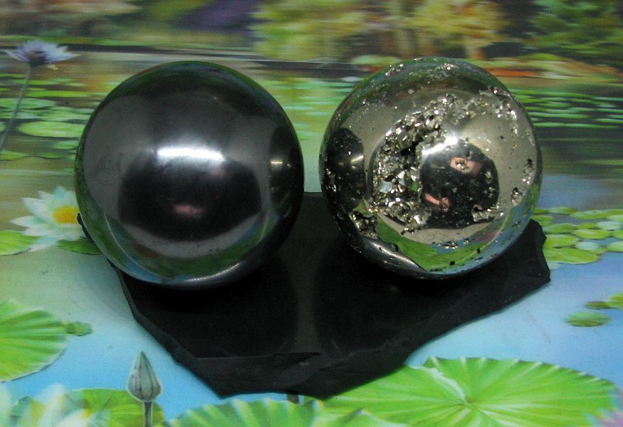 * Shungite & Pyriet harmoniser bol set 70 mm
